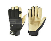Wells Lamont Work & Home Durable Leather Palm Gloves Men's Medium FREE SHIP! NEW