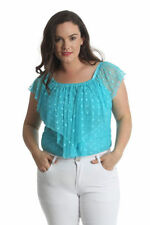 Polka Dot Cap Sleeve Casual Tops & Blouses for Women