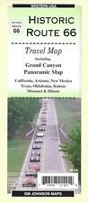 Map of Historic Route 66 & Grand Canyon, Arizona & Western USA, GMJ Maps