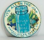 Advertising Mirror Atlas E-Z Seal Jar HAZEL - ATLAS Glass Co - Wheeling W. VA