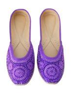Women Shoes Indian Handmade Mojari Oxfords Purple UK 3.5-9.5 EU 36-44