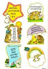 VINTAGE AGC💜FRIENDSHIP RELIGIOUS CRITTER'S💜 Sticker Sheet