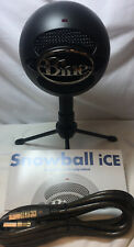 Logitech Blue Snowball iCE Plug and Play USB Microphone Black