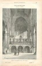 Intérieur Basilique San Zeno Maggiore San Zenone de Vérone Italie GRAVURE 1888
