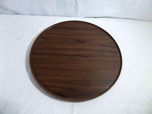 "Vintage Rubbermaid 13"" Faux Wood Grain Turntable #2714"