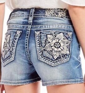 Miss Me Women Shorts Jeans Floral Garden Mini Party Beach Hot Sexy Summer Denim