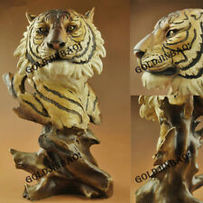 Tiger Bust Statue Sculpture Figure Resin Collection Home Decoration Gift Model