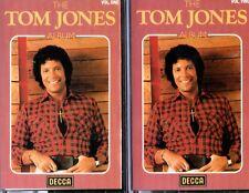 THE TOM JONES ALBUM Vols. 1 & 2 * 2 x Cassettes * DECCA * BTVC 206 * 1980