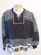 """Tradizionali Vintage nordico Norvegese Modello Fibbia Maglione Collo Taglia XL 46-48"""""""