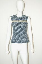 Christian Dior by John Galliano Blue Trotter Monogram T-shirt Top