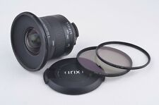 EXC+++ IRIX 15mm f/2.4 LENS FOR NIKON MOUNT w/95mm UV AND CL POLA FILTERS, NICE!