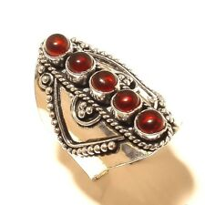 Beautiful Garnet Free Shipping Silver Plated Gemstone Ring Jewellery Wp5400