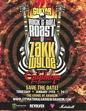 Epiphone & Guitar World Rock & Roll Roast of Zakk Wylde 2012 ad print