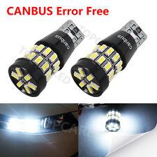 2x T10 30 SMD 3014 EX LED Canbus chipset Super Bright White 168 2825 Lights Bulb