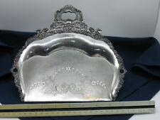 Vintage Homan Silverplate Crumb Catcher Dust Pan Silent Butler Tray