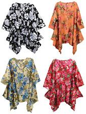 25+ Colors Pocket Lagenlook Tunic Top Dress Beach Kaftan Size 16 18 20 22