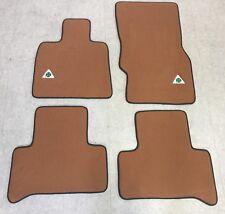 Autoteppich Fußmatten für Alfa Romeo 159 Quadrifoglio Stick Nubuk Cognac Vel.