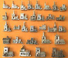 CHURCHES, WEDDING, LOVE Vintage sterling silver charms bracelet