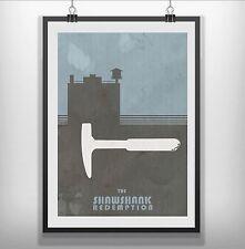 Shawshank redemption minimaliste minimal film movie poster print