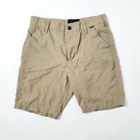 Hurley Mens Size 14 W28 Sand Plain Walk Short Shorts