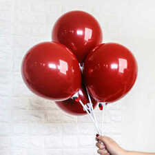 """10"""" Ruby Red Balloons Glossy Pearl Party Decoration Supplies Latex Helium 10X"""