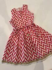 5 Yr 110 Room Seven Adorable Red White Chevron Striped Organza Dress
