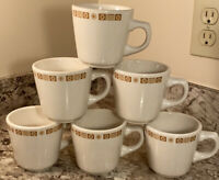 Vintage Buffalo China Diner Coffee Mugs Set Of 6