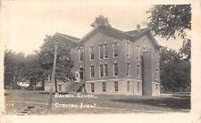 Corning  Iowa~Rawbon Elementary~Junior High School~Steps Up~Open Door~1912 RPPC