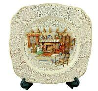 H&K Tunstall Salad / Luncheon Plate - An Englishman's Fireside Pattern - 1930s