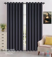 Blackout Curtains Thermal Luxury Readymade Fully Lined Eyelet Ring w/ TieBacks