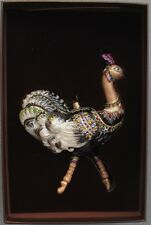 Jay Strongwater Jeweled Ostrich Ornament Swarovski Elements Mint in Box