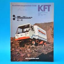 DDR Kft vehículos de motor tecnología 9/1986 IFA Multicar 25 l 60 Sims. Sr 80 Polonez e