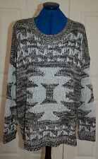 NEW Sz L (12-16) Falmer Nordic Chunky knitted Jumper Top with silver thread Warm