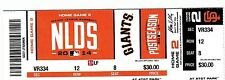 2014 SAN FRANCISCO GIANTS VS WASHINGTON NATIONALS NLDS TICKET STUB GAME #4