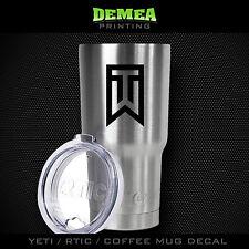 Tiger Woods - TW - Yeti/Rtic/Yeti Rambler/Tumbler/Coffee Mug-DECAL