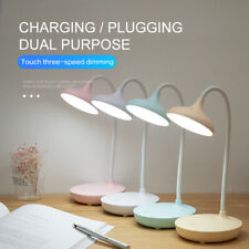 Recharge USB LED Reading Desk Lamp + Flexible Swing Arm Touch Study Night Light