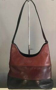 Retro CELLINI Tri Colour Tan, Brown & Black Quality Leather Shoulder Bag