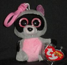TY BEANIE BOOS - ROCCO the RACCOON  KEY CLIP - MINT with MINT TAGS