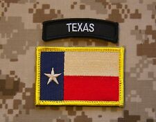 Texas State Flag / B & W  Texas Tab Set Lone State Patch Navy SEAL