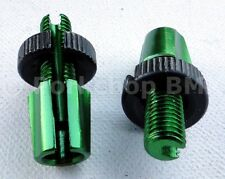 Dia-Compe M7 threaded bicycle brake lever barrel adjusters - PAIR - GREEN