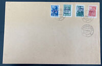 1941 Panevezy Lithuania Russia Occupation Cover  Provisional Stamps