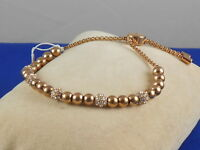 Michael Kors Goldtone BRILLIANCE Beaded Crystal Ball Pulley Bracelet MKJ5218
