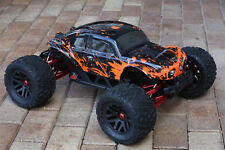 Custom Buggy Body Muddy Orange Black Shell for ARRMA 1/8 Nero 6S BLX Beetle