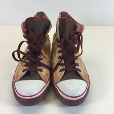 ***Good Condition DRx Chuck Taylor Converse High Red (Band-Aid) Size 7