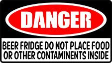 Beer Fridge Sticker Funny Danger Sign Budweiser Stella Beer Fridge Corona