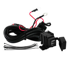 12V Motorbike Motorcycle Phone GPS Dual USB Charger Power Socket Adapter Outlet