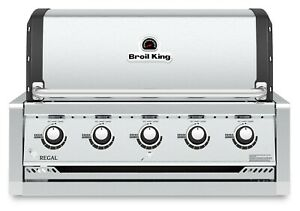 Broil King Regal S520 Pro - Stainless Steel 5-Burner Built-In Gas Grill Head