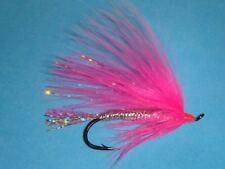 Fly Fishing Flies - Traditional Pink Splash Salmon/Steelhead Fly size #2* (6 ea)