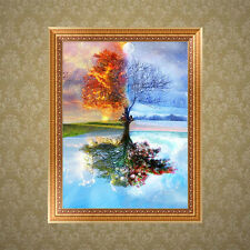 5D DIY Diamond Painting Embroidery Beautiful Tree Cross Stitch Kit Home Decor