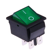 Interruttore a Bilanciere 230V Bipolare Luminoso On/Off 31x26mm Verde Illuminato